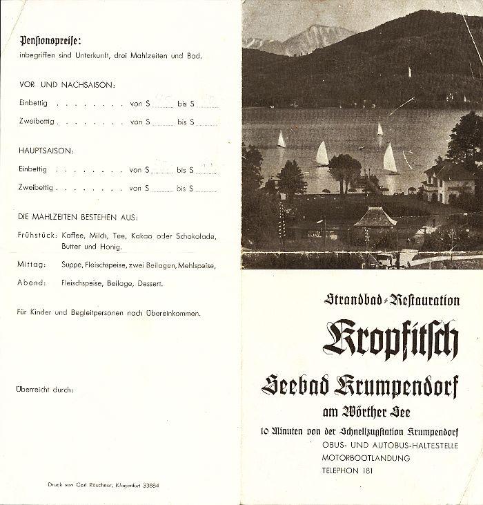 Prospekt Bad Kropfitsch 1930er