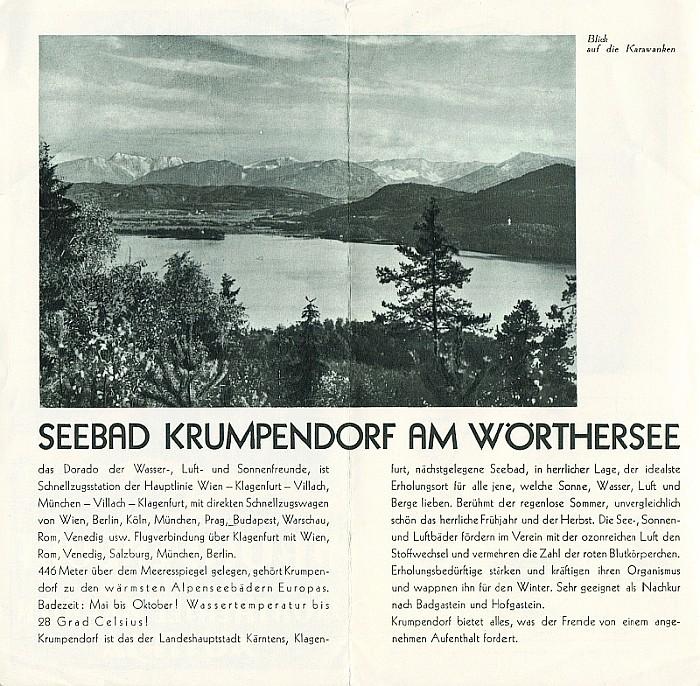 Seebad Krumpendorf 1930er Jahre