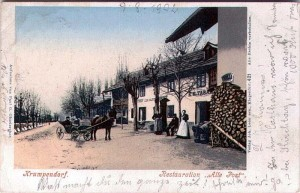 Restauration Alte Post in Krumpendorf 1902