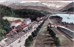 Gasthof zur Alten Post in Krumpendorf 1903
