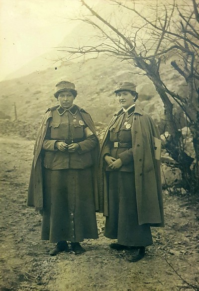 Anni Pinter und Hansi Michaelis anlässlich der Verleihung der Tapferkeistmedaille