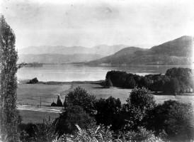 Ansicht auf Wörthersee vom Römerweg 1889