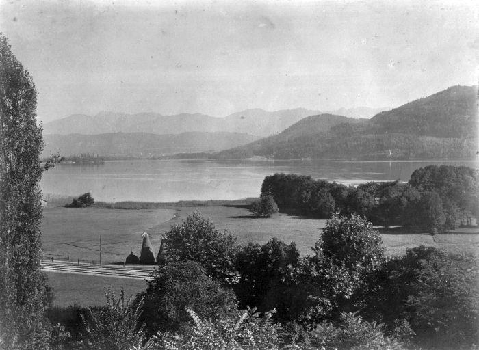 Aussicht von Villa Schindler Richtung Maria Loretto 1889