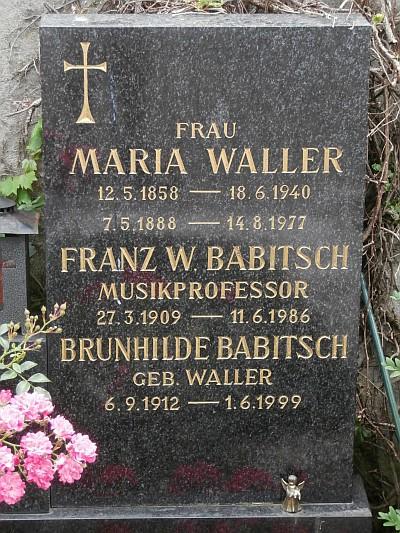 Grabstein Franz Babitsch