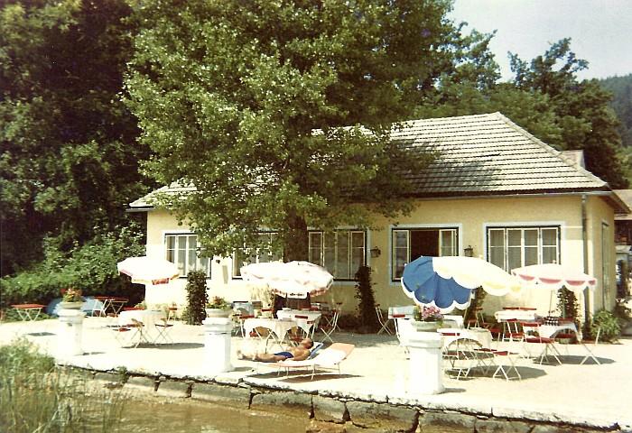 Sitzgarten Restaurant Café im Bad Kropfitsch ca. 1963