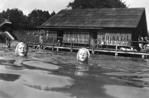 Bad Stich Badehütte 1940er Jahre