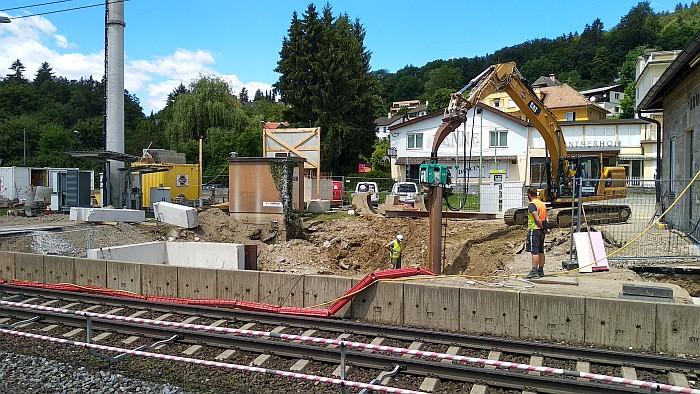 Bau Zugang Unterführung