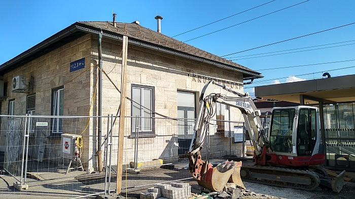 Bauarbeiten am Parkplatz
