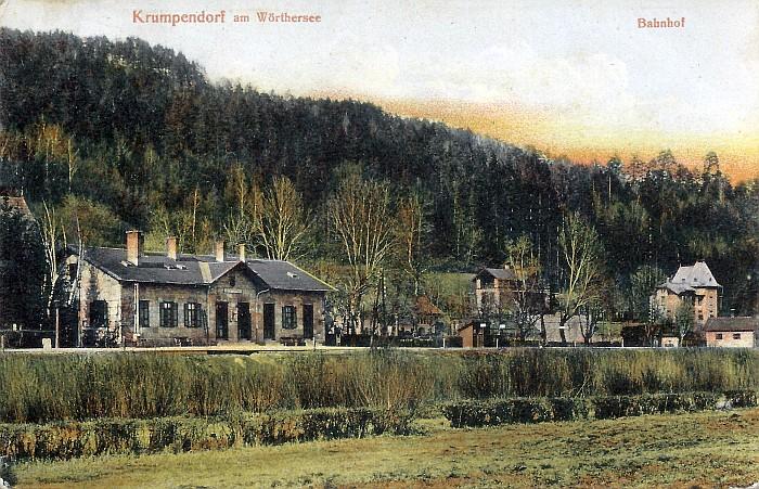 Bahnhof Krumpendorf 1905