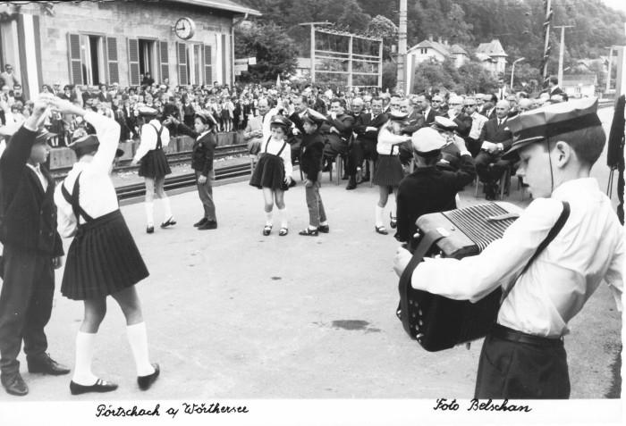 Eröffnung 2. Gleis am Bahnhof Krumpendorf 1968