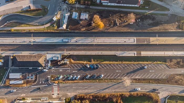 Bahnhof Krumpendorf Aufsicht 2020