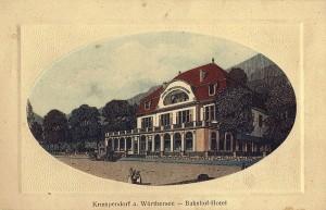 Bahnhof-Hotel Krumpendorf 1909