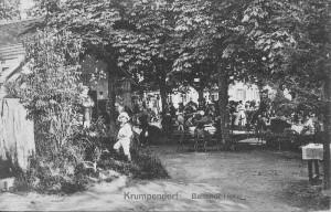 Bahnhofhotel Gastgarten 1912