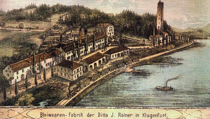 Bleiwaren-Fabrik Johann Rainer in Gurlitsch ca. 1830