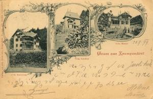 Drei Villen aus Krumpendorf 1899