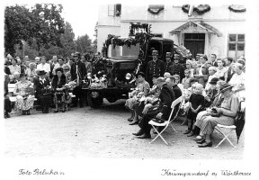 Fahrzeugeinweihung der Feuerwehr Krumpendorf 1951