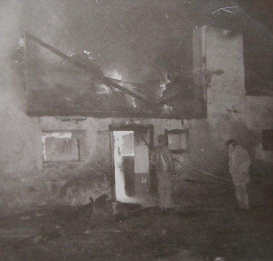 Brand des Stadls am Kraschonighof 1962