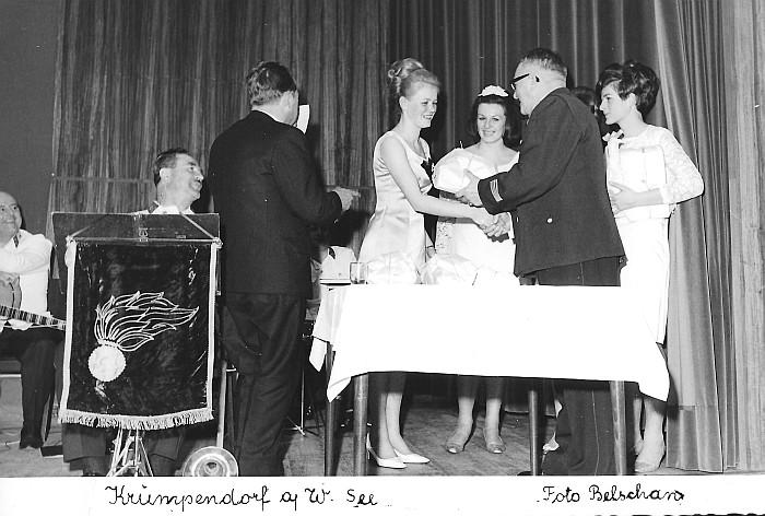 Feuerwehrball 1967, Herzerlköniginnen