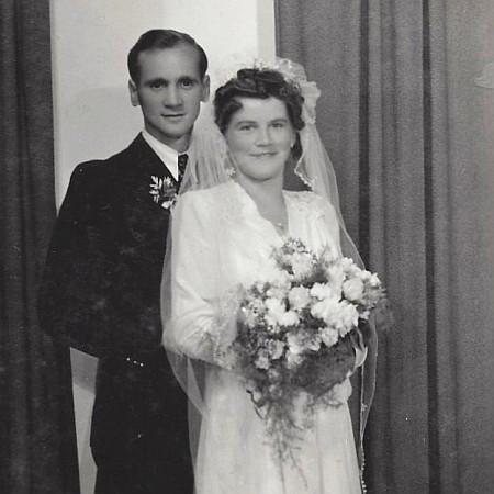 Hochzeitsfoto Gottfried und Irmgard Filler 1948