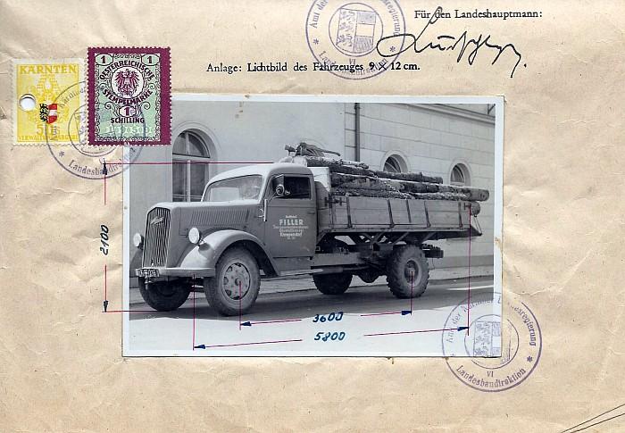 LKW der Frächterei Filler 1949