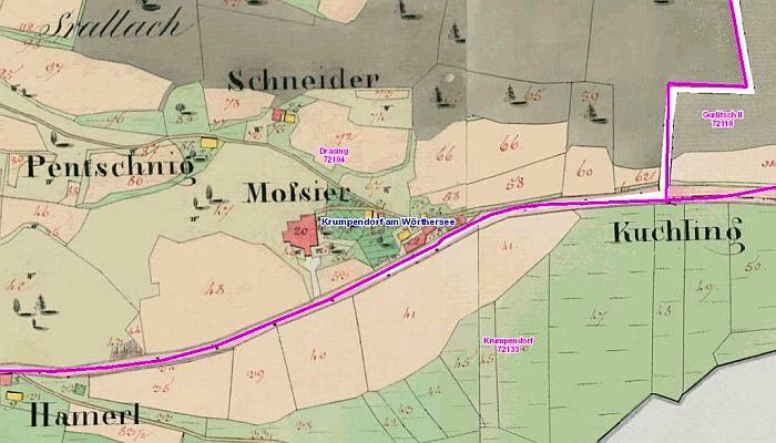 Franziszeischer Kataster Moßier 1822-28