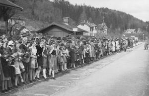 Warten auf den Führerzug 1941