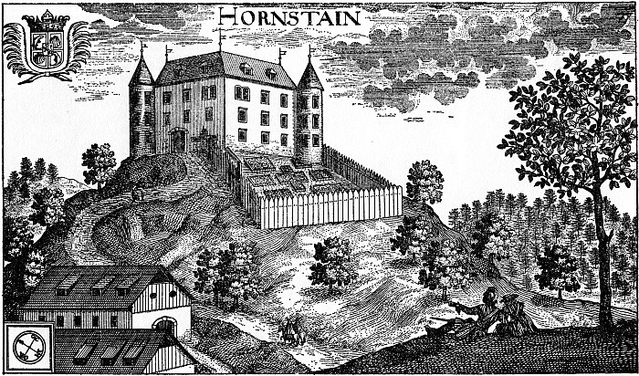 Schloss Hornstein - Kupferstich Valvasor 1688