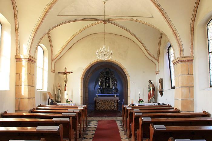 Innenraum der St. Ulrichskirche 2021