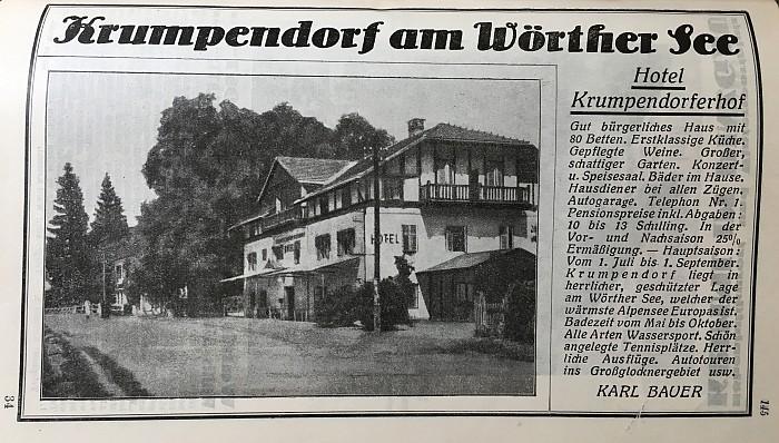 Krumpendorferhof Werbung - Karl Bauer