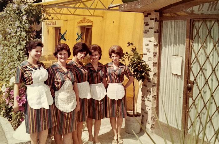 Die Kellnerinnen vom Krumpendorferhof ca. 1960