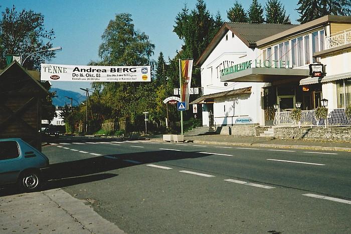 Werbung für Andrea Berg in der Tenne 2003