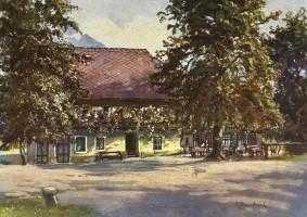 Gasthof Koch Aquarell von Manhart 1930