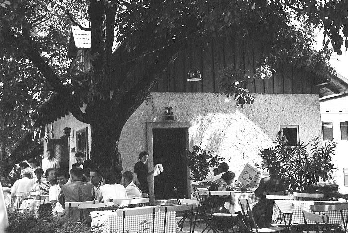Kerzenstube Sitzgarten ca. 1950