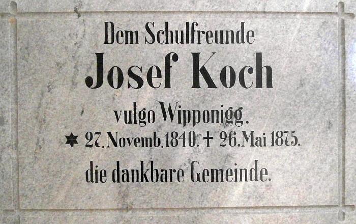 Gedenktafel an Josef Koch Volksschule Krumpendorf
