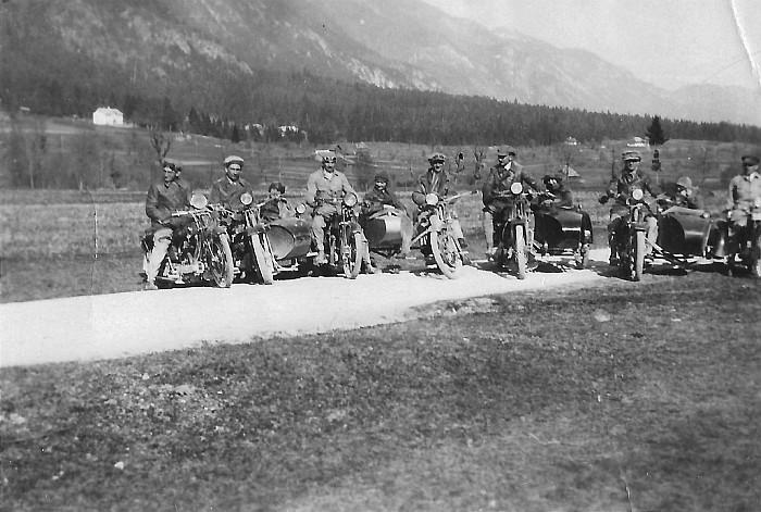 Motorradrennen mit Beiwagen 1926