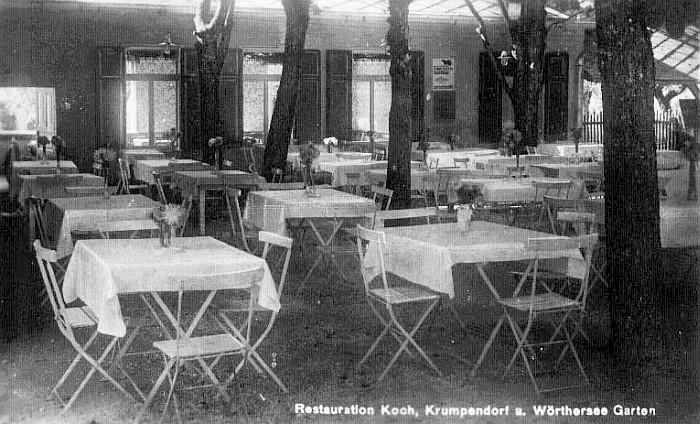 Sitzgarten des Gasthof Koch ca. 1950
