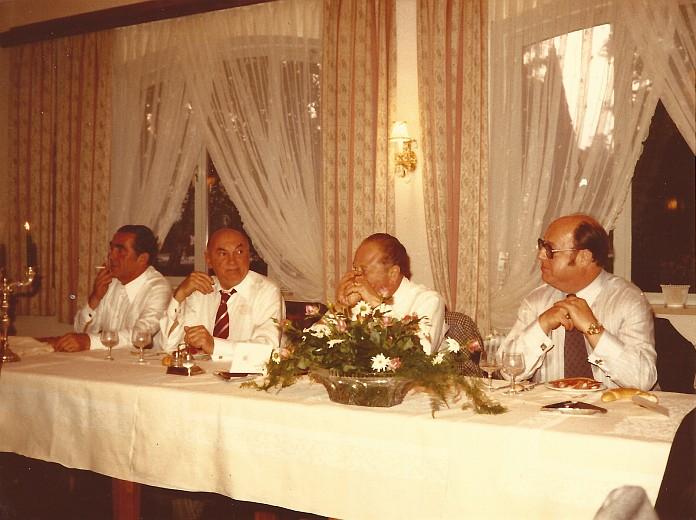 Festessen der Gewerkschaft mit Bruno Kreisky im Restaurant Koch 1977