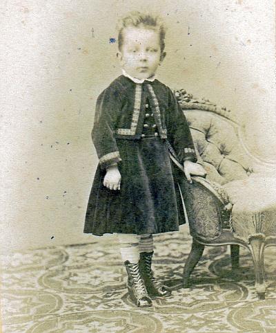 Edwin Komauer Kinderportrait 1871