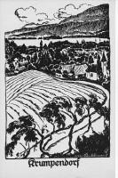 Krumpendorf expressionistische Ortsansicht 1924