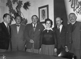Bgm. Karl Kutternig im Gemeindeamt 1956
