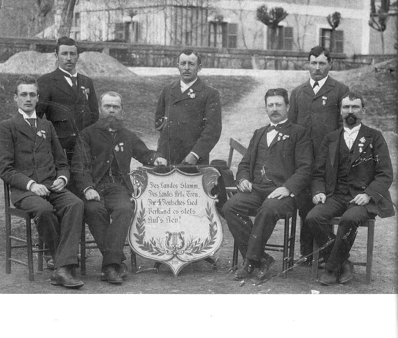 Die Gründer des MGV Seerösl 1898