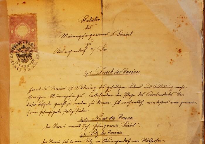 MGV Seerösl Statuten 1898
