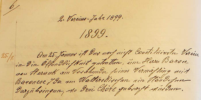 Vermählung des Baron von Sterneck 1899