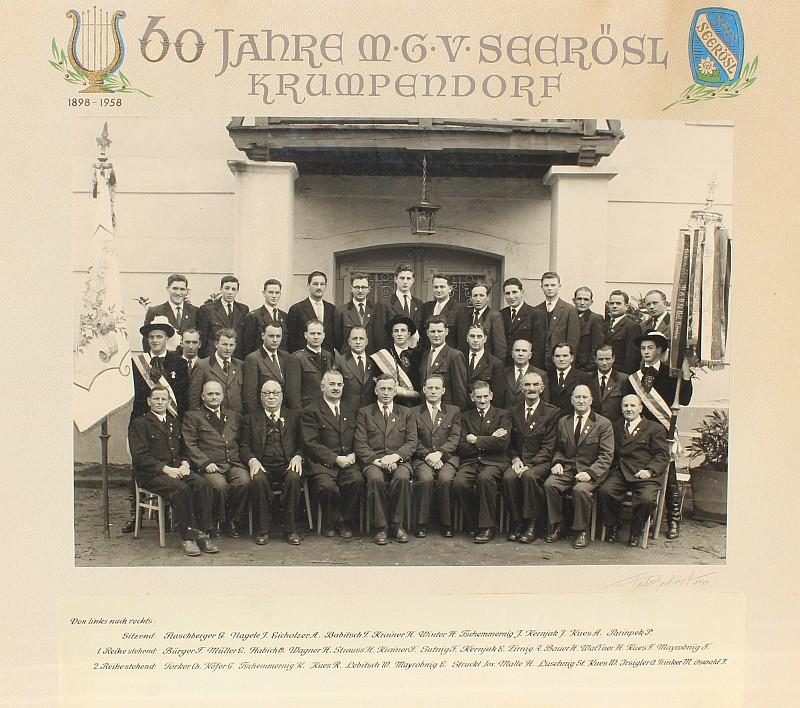 MGV Seerösl Gruppenfoto 1958
