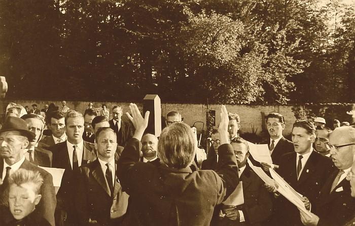 MGV Seerösl Begräbnis Josef Kernjak 1960