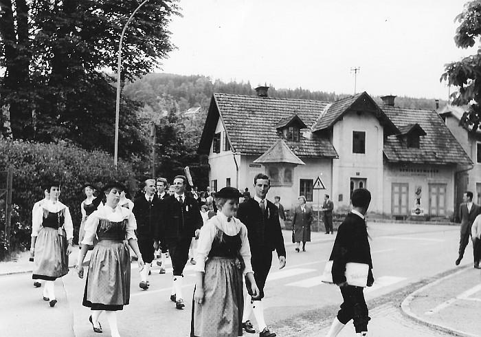 MGV Seerösl Aufmarsch 1962