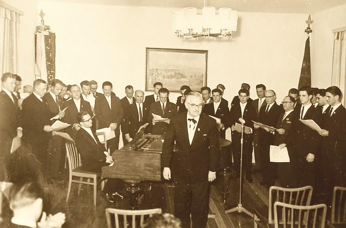 MGV Seerösl beim Koch 1962