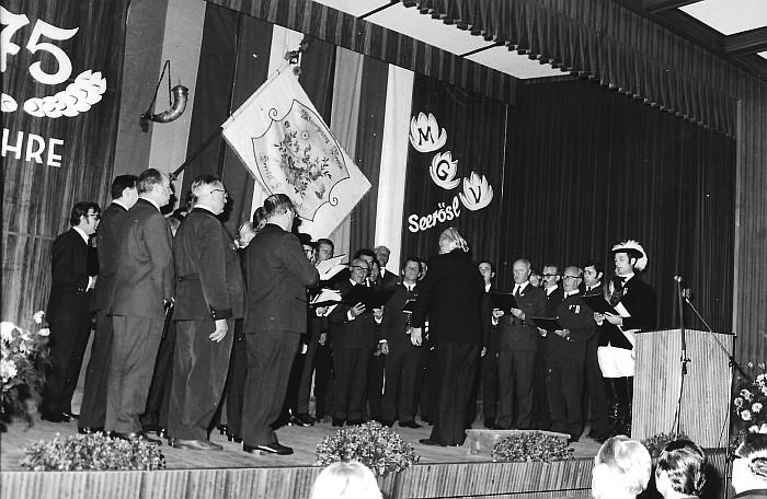 MGV Seerösl 75jähriges Bestandsjubiläum 1973