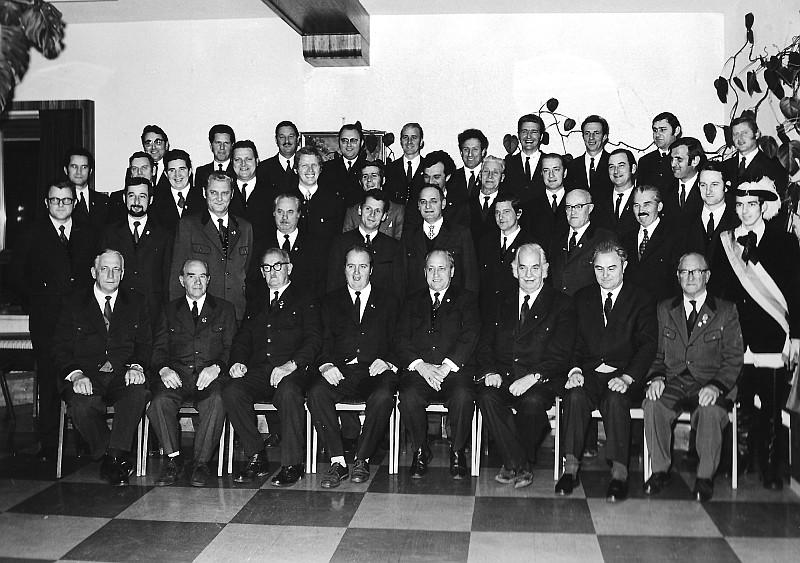 MGV Seerösl Gruppenfoto 1973