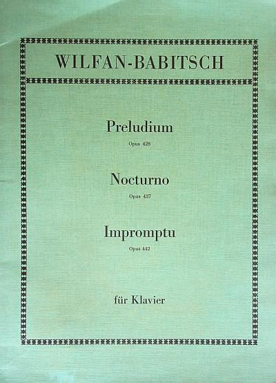 Kompositionen Wilfan-Babitsch für Klavier 1971